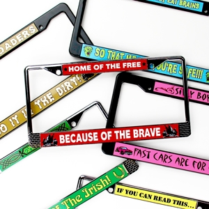 License Plate Frame Templates
