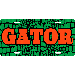 Gator Skin License Plate