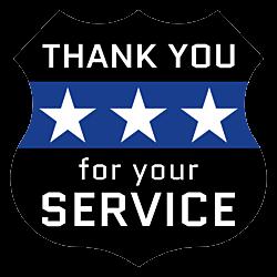 Law Enforcement Appreciation Day Badge Magnet