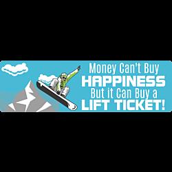 Lift Ticket Bumper Sticker