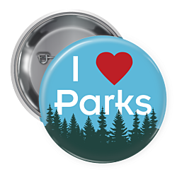 I Love Parks Buttons