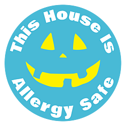 This house is Allergy safe Halloween static cling