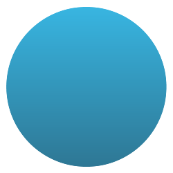Circle shaped decal with blue gradient.