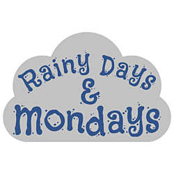 Rainy Days and Mondays Song Lyric Cloud Shaped Static Cling