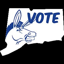 Connecticut Vote Democrat Decal