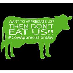 Eat More Veggies Cow Decal