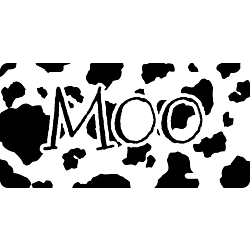 Moo License Plate