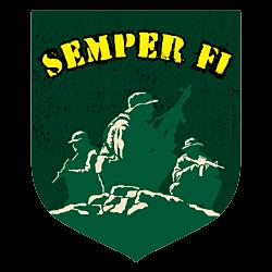 Semper Fi Marines Custom Crest Car Magnet