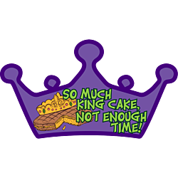 Mardis Gras Fat Tuesday King Cake Crown Shaped Decal