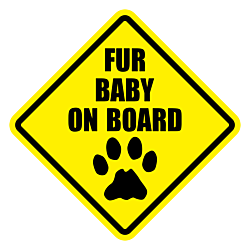 Fur Baby On Board Diamond Static Window Cling