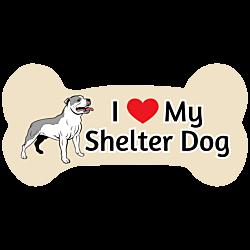 Custom Shelter Dog Bone Car Magnet