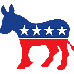 Democratic Party Supporter Donkey Shaped Decal
