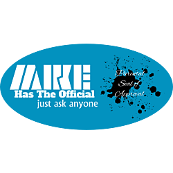 Mike Teal Oval Car Magnet