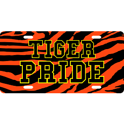 Tiger Pride License Plate