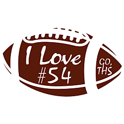 Personalized Football Car Magnet