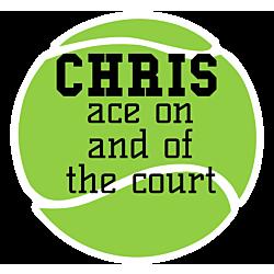 Custom Tennis Ball Decal