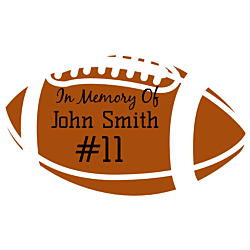 In Memory of Football Decal