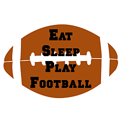 Eat Sleep Play Football Decal