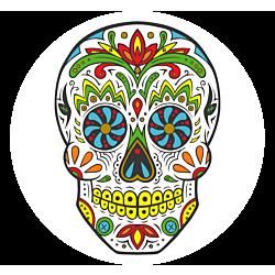 Sugar Skull Temporary Tattoo
