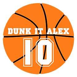 Personalized Basketball Static Cling