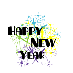 New Year Static Cling
