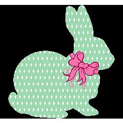 Aqua Rabbit Decal