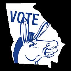 Georgia Vote Democrat Decal