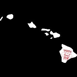 Hawaii Vote Republican Decal