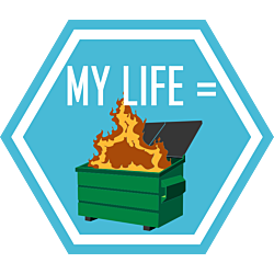 My Life Hexagon Magnet