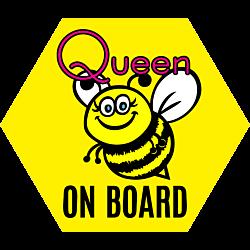 Queen Bee On Board Hexagon Magnet
