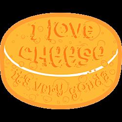 I Love Cheese Car Magnet