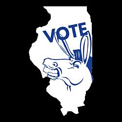Illinois Vote Democrat Decal