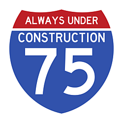 Interstate 75 Car Magnet