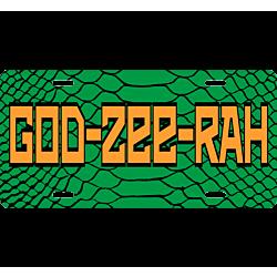GODZEERAH Lizard Skin License Plate