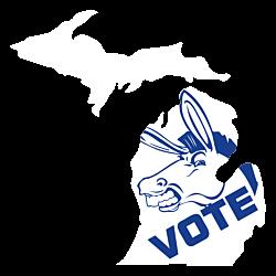 Michigan Vote Democrat Decal