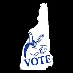New Hampshire Vote Democrat Decal