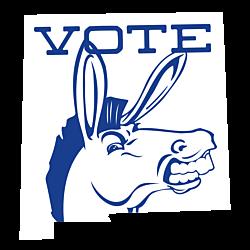 New Mexico Vote Democrat Decal
