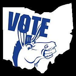 Ohio Vote Democrat Decal