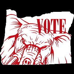 Oregon Vote Republican Decal