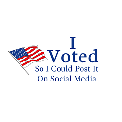 Voted for Social Media Oval Decal