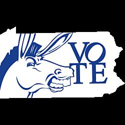 Pennsylvania Vote Democrat Decal