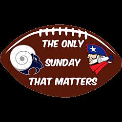 Rams vs Patriots Pigskin Vinyl Decals