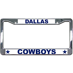 Cowboys License Plate Frame