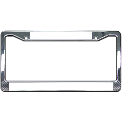 Plastic License plate frame with chrome finish