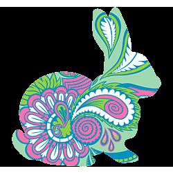 Paisley Rabbit Vinyl Decal