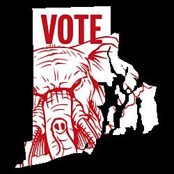 Rhode Island Vote Republican Decal