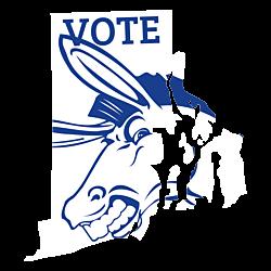 Rhode Island Vote Democrat Decal