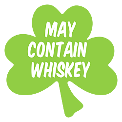 May Contain Whiskey Shamrock Temporary Tattoos