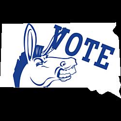 South Dakota Vote Democrat Decal