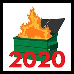 Dumpster Fire 2020 Car Magnet